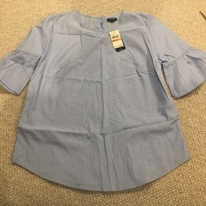 Baby Blue Izod Shirt with ruffle sleeves